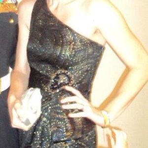 Kay Unger One Shoulder Cocktail Dress Size 4